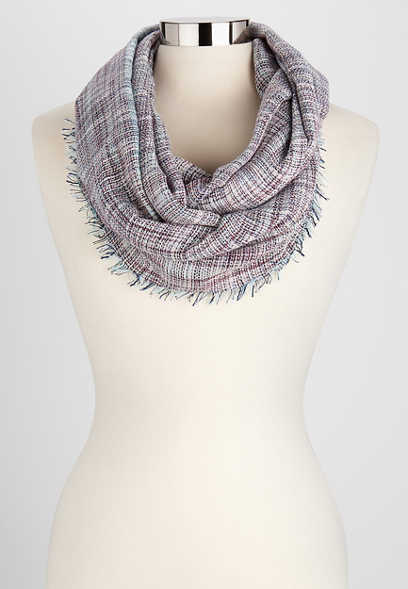mini plaid infinity scarf