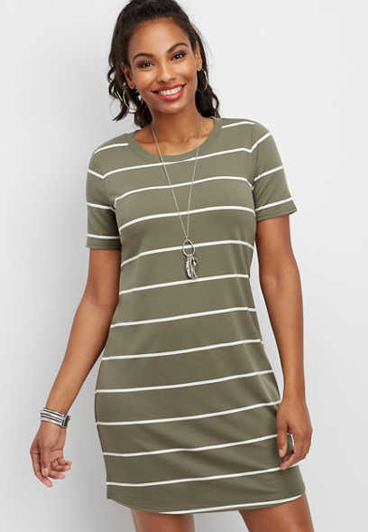 24/7 striped t-shirt dress
