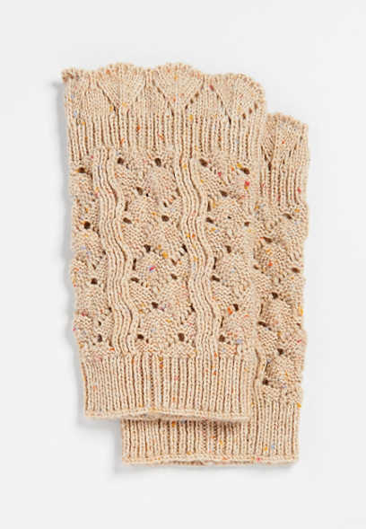 pointelle knit boot cuff