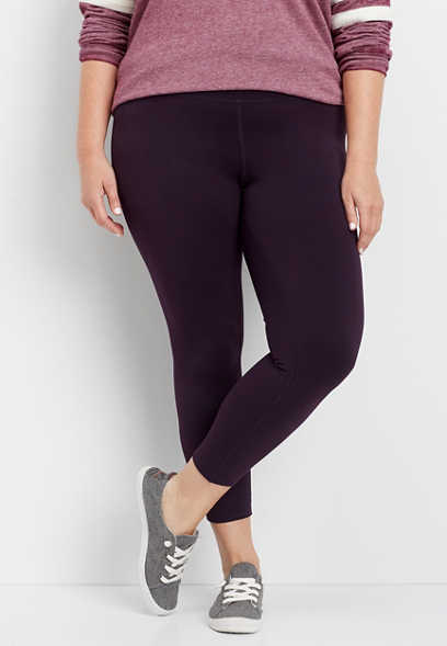 plus size high rise 7/8 length legging