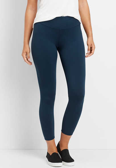 teal high rise 7/8 length legging