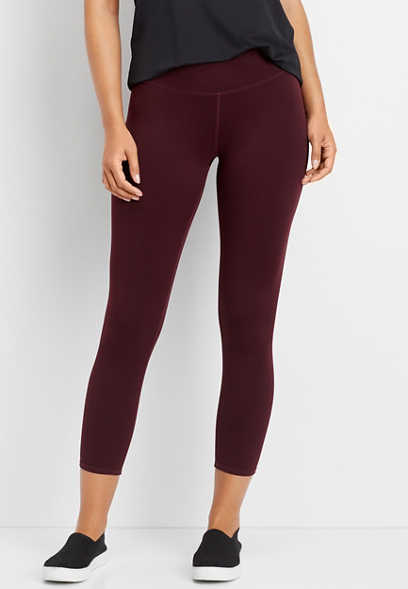 high rise 7/8 length legging