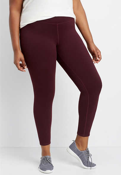 plus size high rise 7/8 active legging