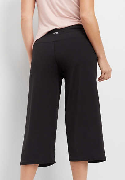 wide leg athleisure crop pant