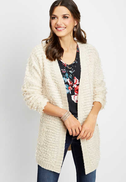 loop stitch cardigan