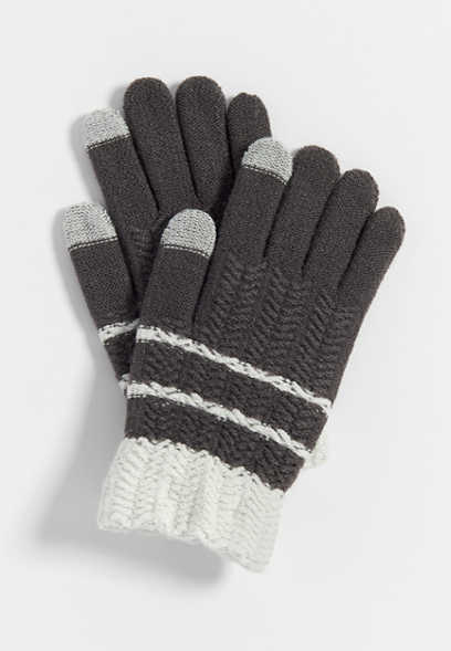 tech finger knit glove