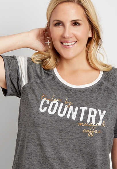 fueled by country graphic tee