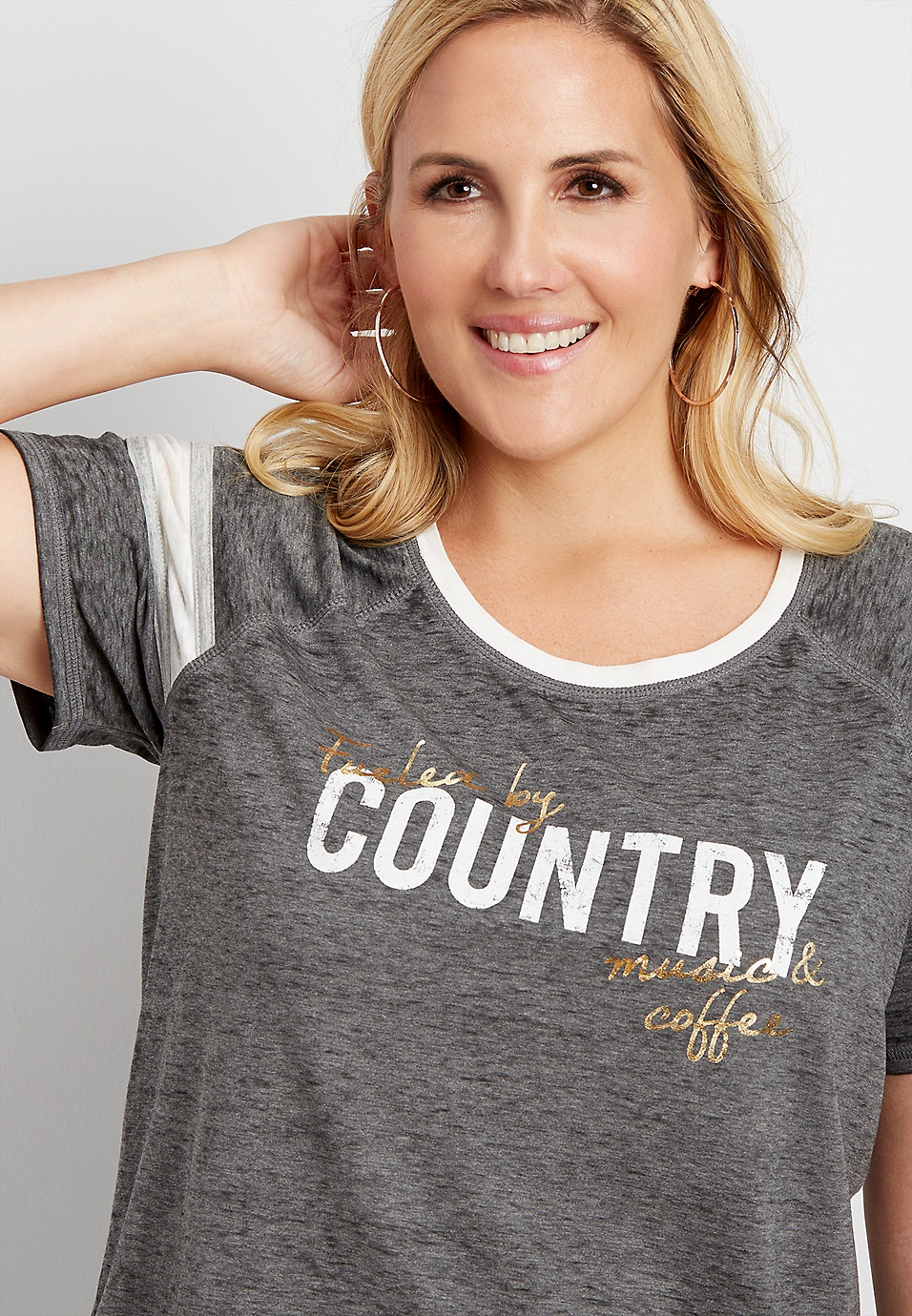 df1d1e19fef764 plus size fueled by country graphic tee