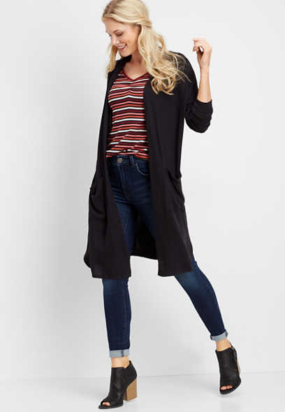 brushed duster cardigan