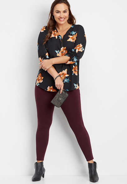 plus size ponte five pocket skinny pant