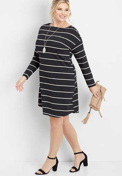 plus size 24/7 snap shoulder shirtdress