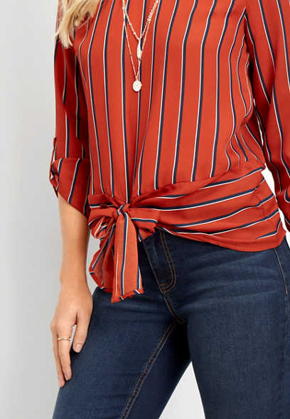 stripe banded bottom top