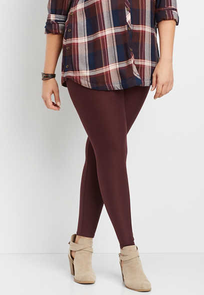 plus size ultra soft pull on legging