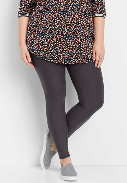 plus size ultra soft gray legging