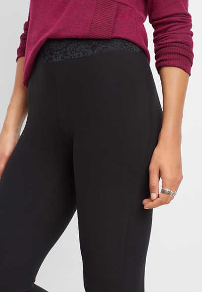 black lace waist ultra soft legging