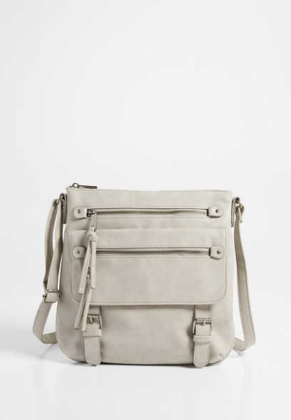 double pocket crossbody bag