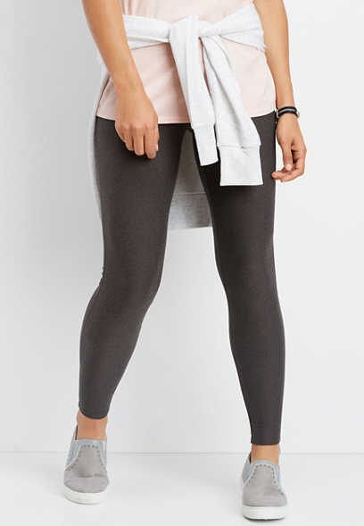 gray lace waist ultra soft legging