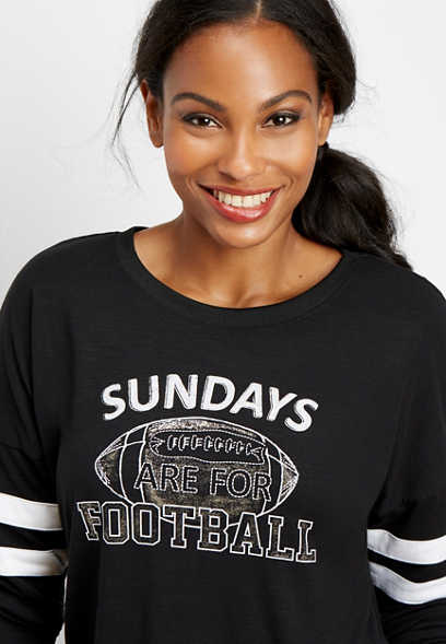 sunday football graphic tee