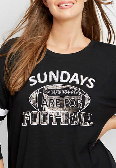 plus size sunday football graphic tee