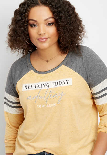 plus size relaxing today graphic tee