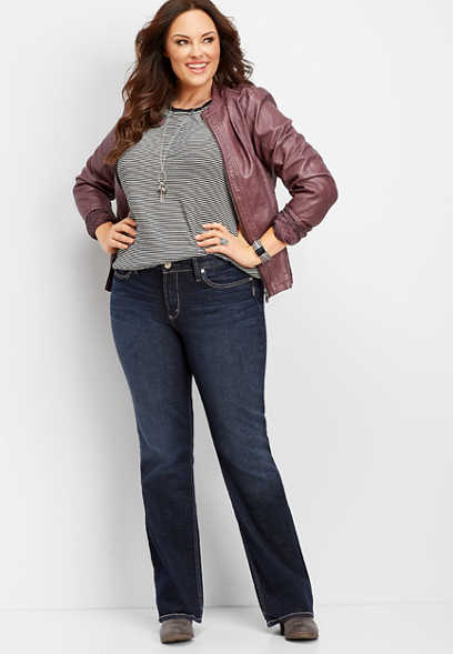 plus size Silver Jeans Co.® Avery high rise slim boot jean