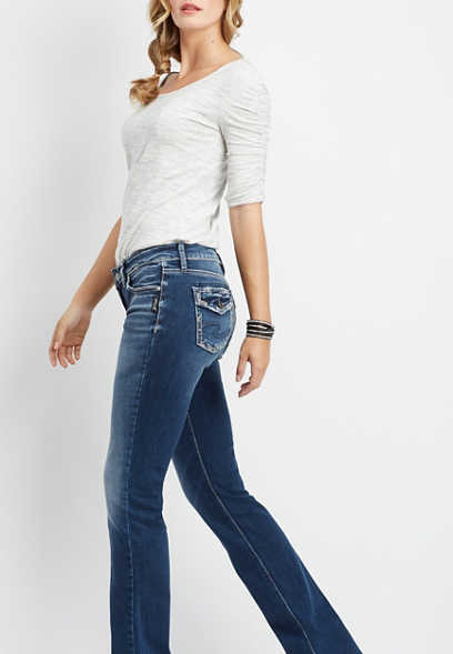 Silver Jeans Co.® Suki medium wash slim boot jean