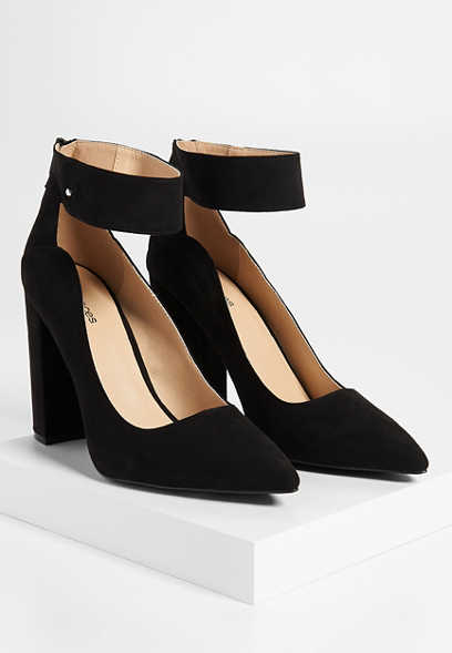 Noelle back zip strappy heel