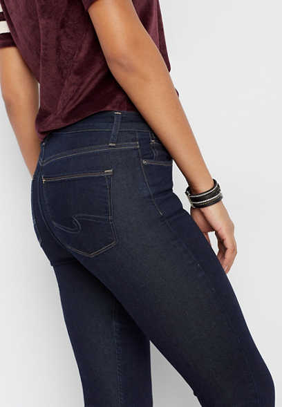 Silver Jeans Co.® Mazy high rise dark wash skinny jean