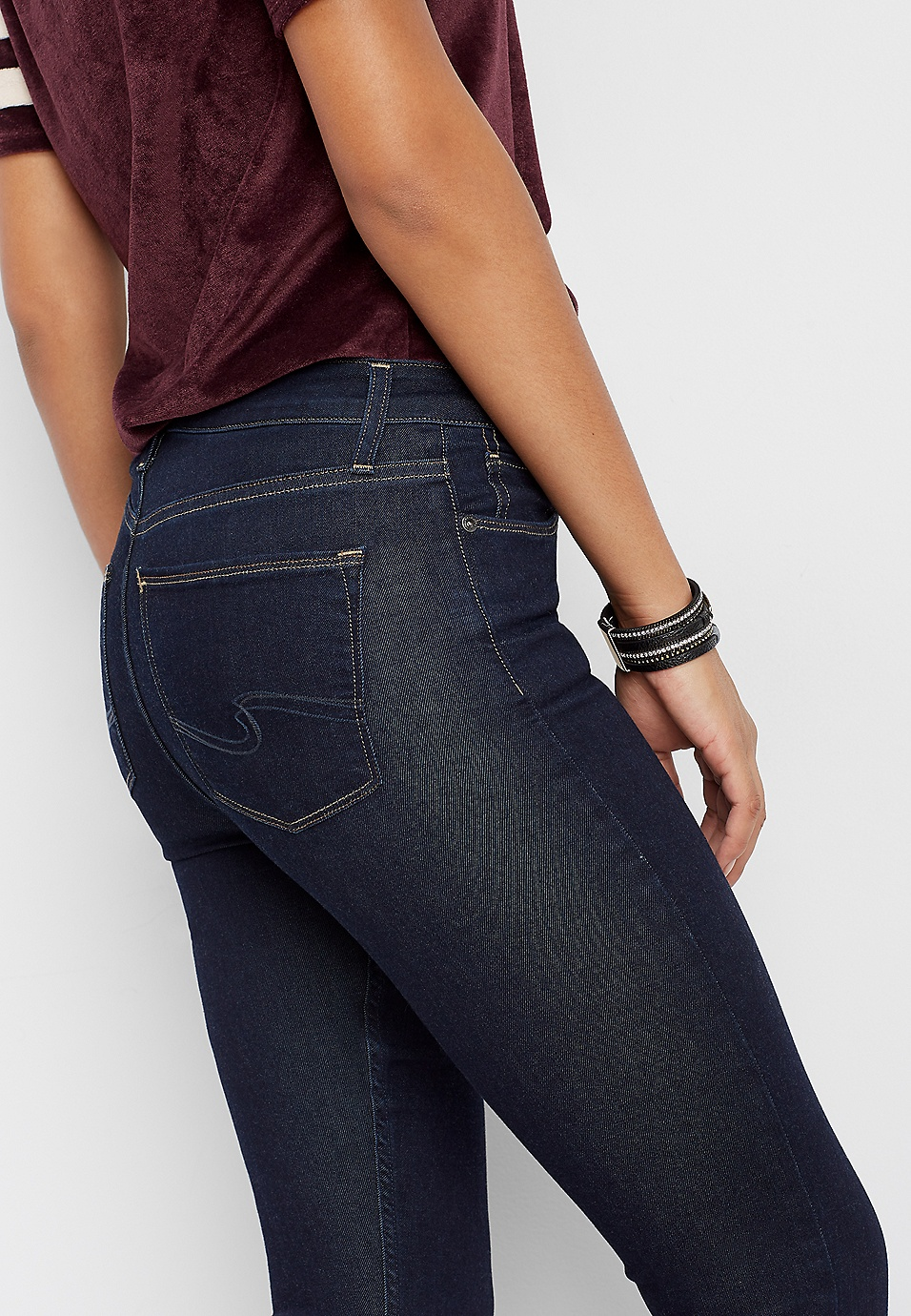 9fa67519 Silver Jeans Co.® Mazy high rise dark wash skinny jean | maurices