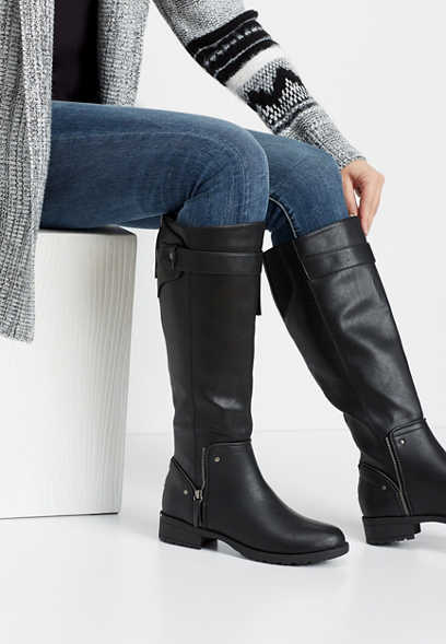 Genna side zip tall boot