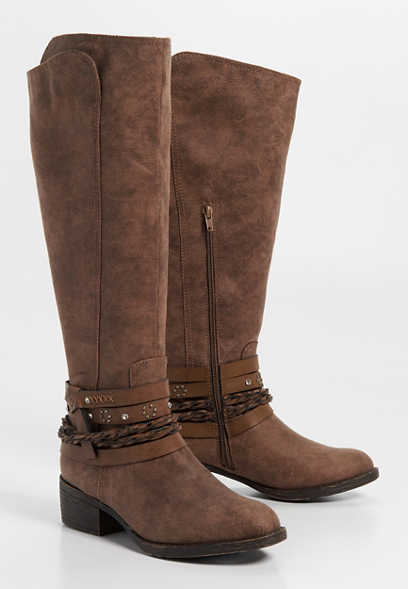 Gretchen western braid wrap boot