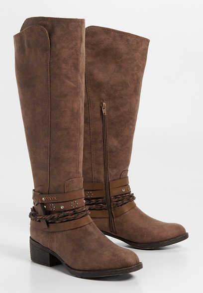 16605c3c8f8fa Gretchen western braid wrap boot
