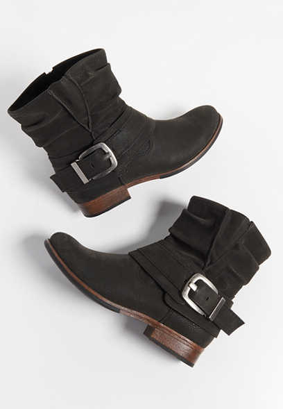 Carmela low side buckle ankle bootie