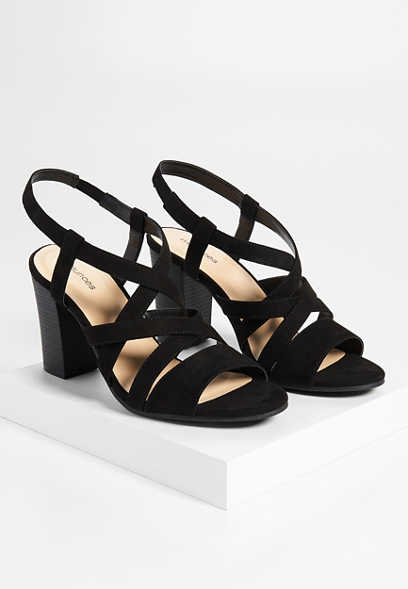 Nyla criss cross open toe heel