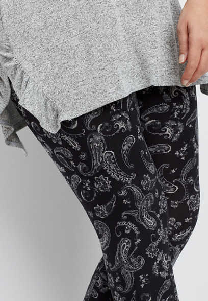 plus size paisley ultra soft legging