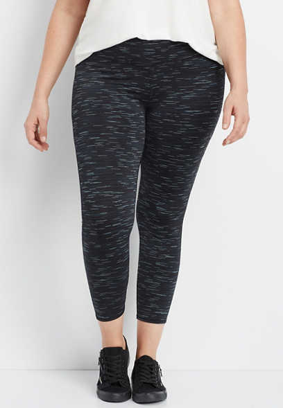 plus size spacedye 7/8 active legging