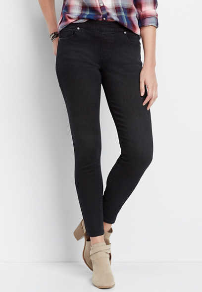 DenimFlex™ black pull on color jegging