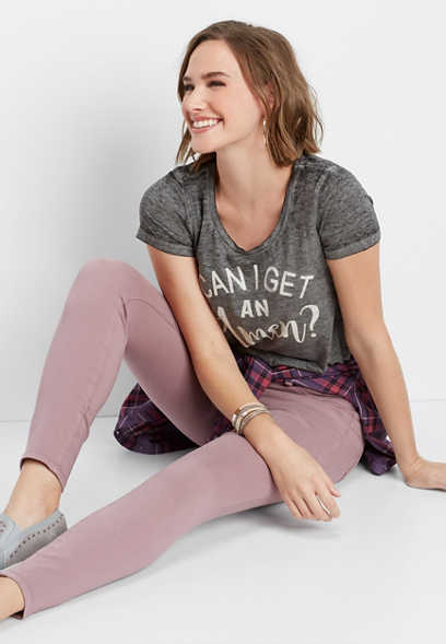 DenimFlex™ mauve mist color jegging