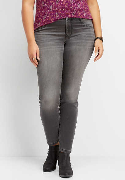plus size DenimFlex™ super soft gray color jegging