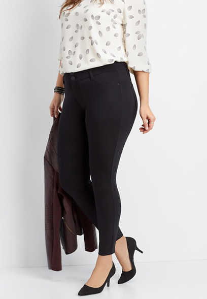 plus size high rise skinny ponte pant