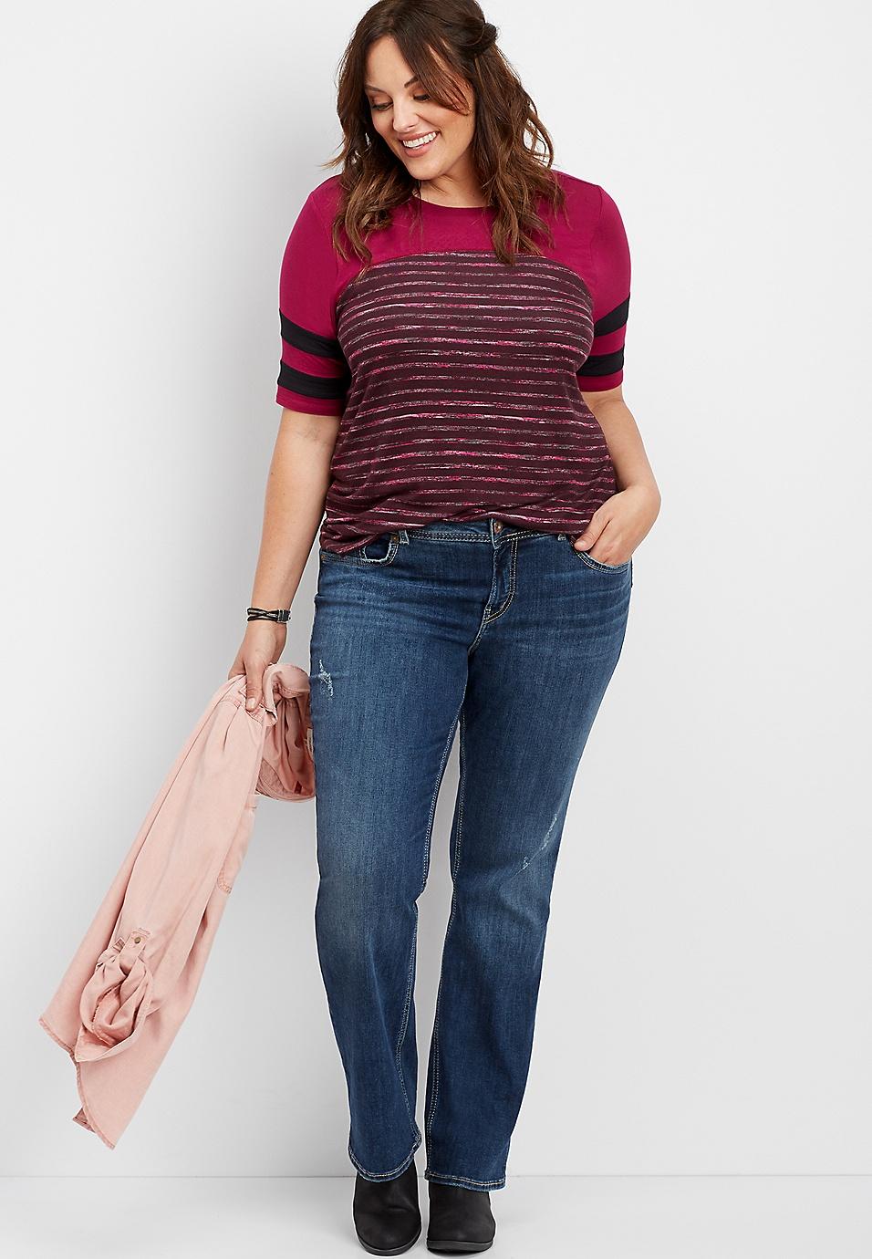 a44e578cf77 plus size Silver Jeans Co.® Elyse slim boot jean