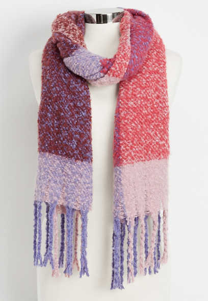 soft patterned oblong scarf