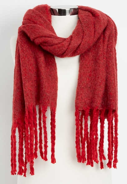 solid thick oblong scarf