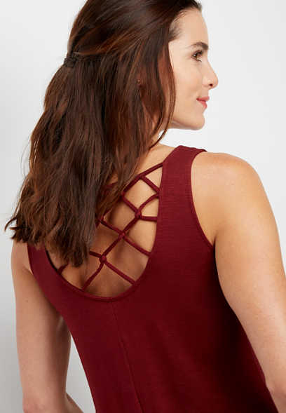 24/7 strappy knotted back tank