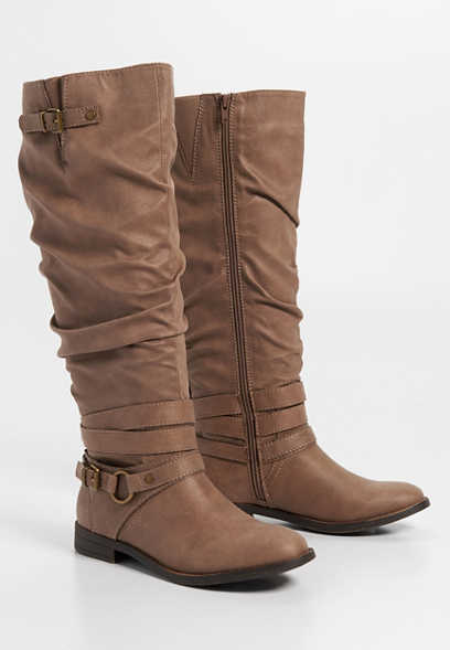 Gigi scrunched tall boot
