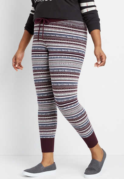 plus size pull on sweater legging