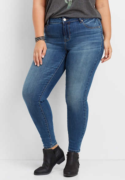 plus size DenimFlex™ medium wash jegging