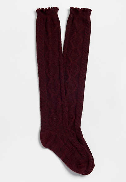 marled knee high sock