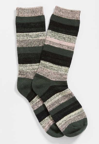 lurex striped crew socks