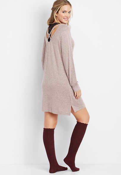 x-back tunic night shirt